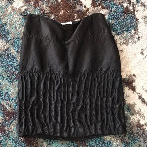 FW 2007 Prada runway black skirt size 44 8 iconic
